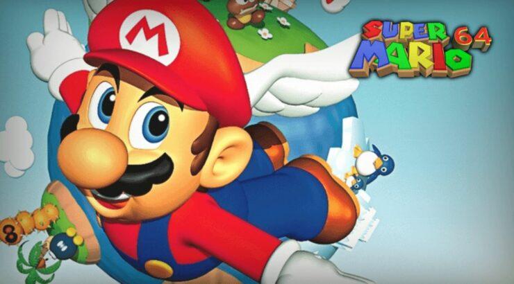 Super Mario 64 en el navegador de iPhone