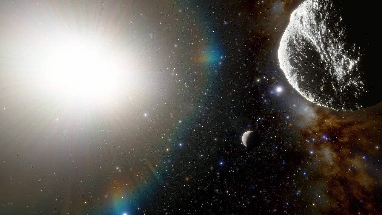 Ilustración que muestra el asteroide 2021 PH27 dentro de la órbita de Mercurio Crédito de la imagen: NOIRLab de NSF