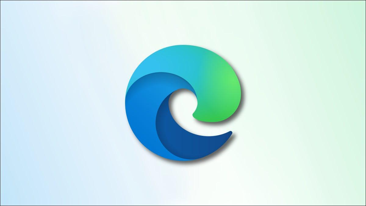Logotipo de borde sobre fondo azul y verde descolorido héroe