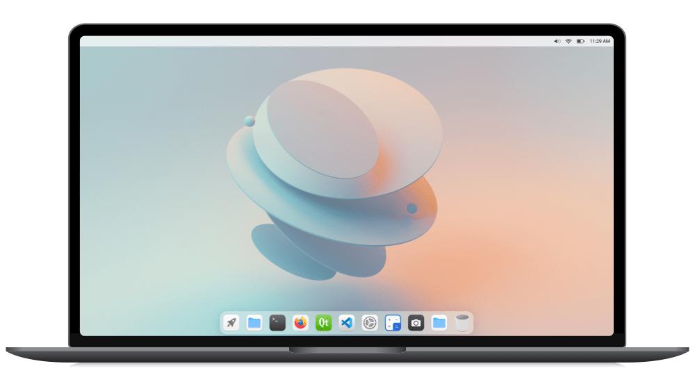 CutefishOS v0.4 con el entorno de escritorio interno Cutefish
