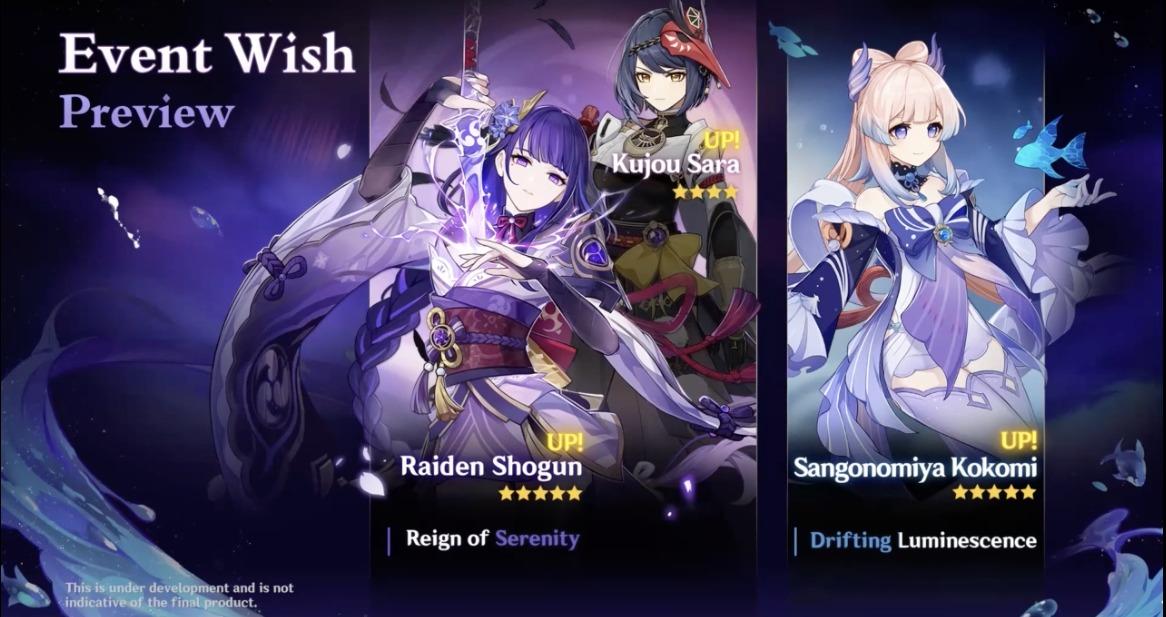 Estandarte de Genshin Impact Raiden Shogun