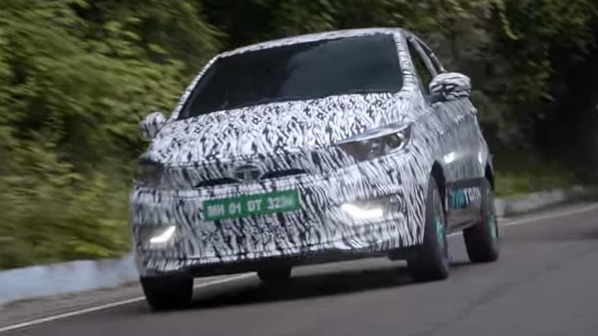 Se espera que el Tata Tigor EV Ziptron tenga un alcance de alrededor de 300 kilómetros.  Imagen: Tata Motors