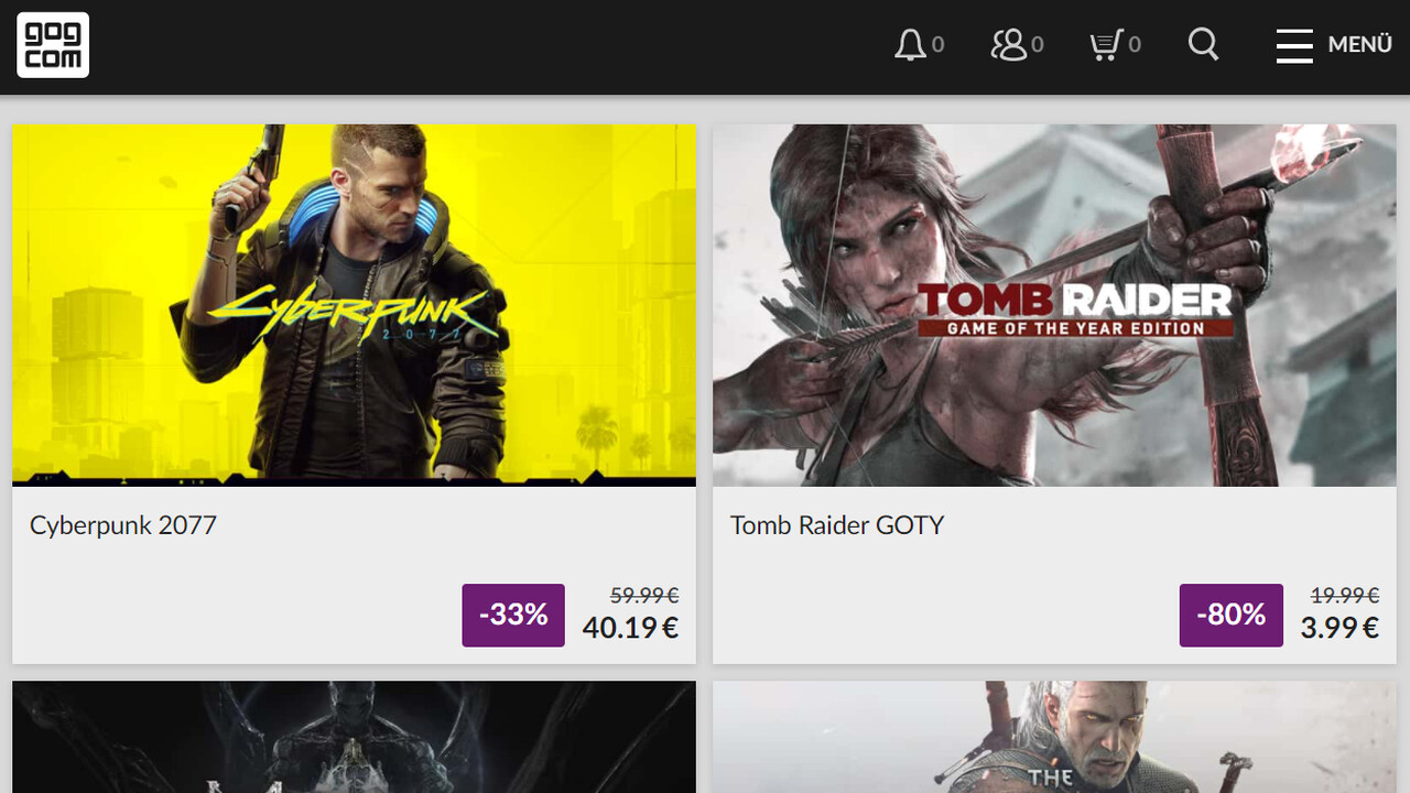 GOG Games Festival: Rabatt auf über 1.200 Spiele inklusive Tomb Raider