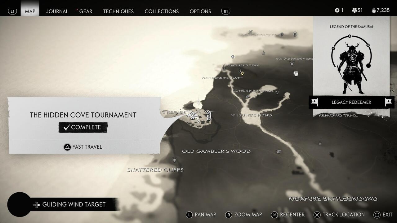 Tendrás que vencer a los cuatro combatientes en el Torneo de Hidden Cove para desbloquear el Crimson Dye Merchant.