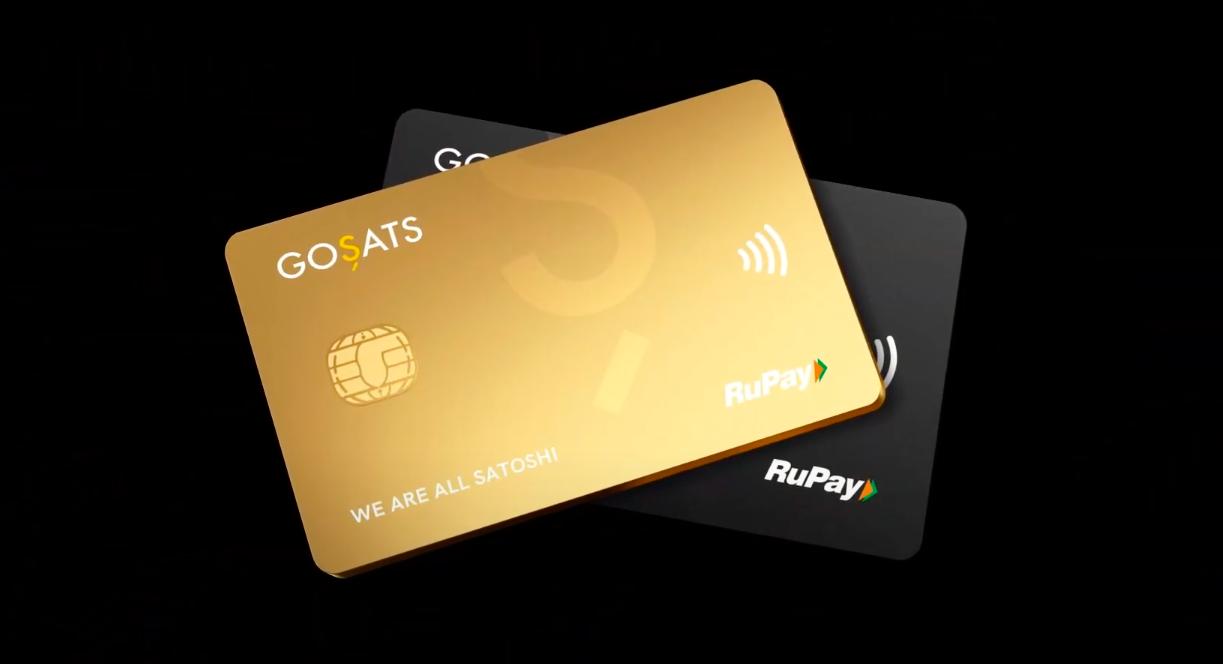 GoSats Bitcoin rewards card