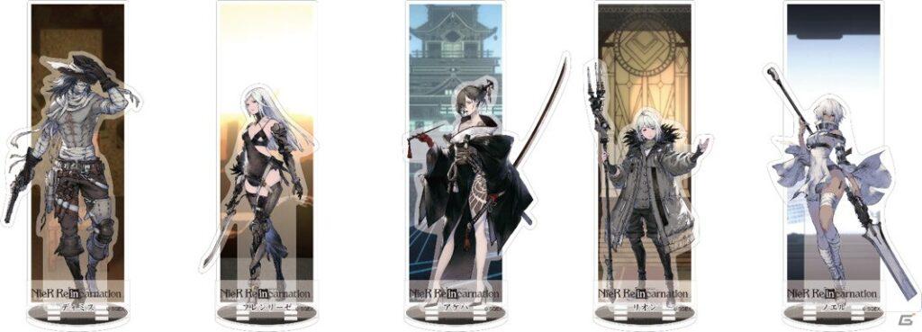 Standees acrílicos NieR Reincarnation Square Enix Cafe