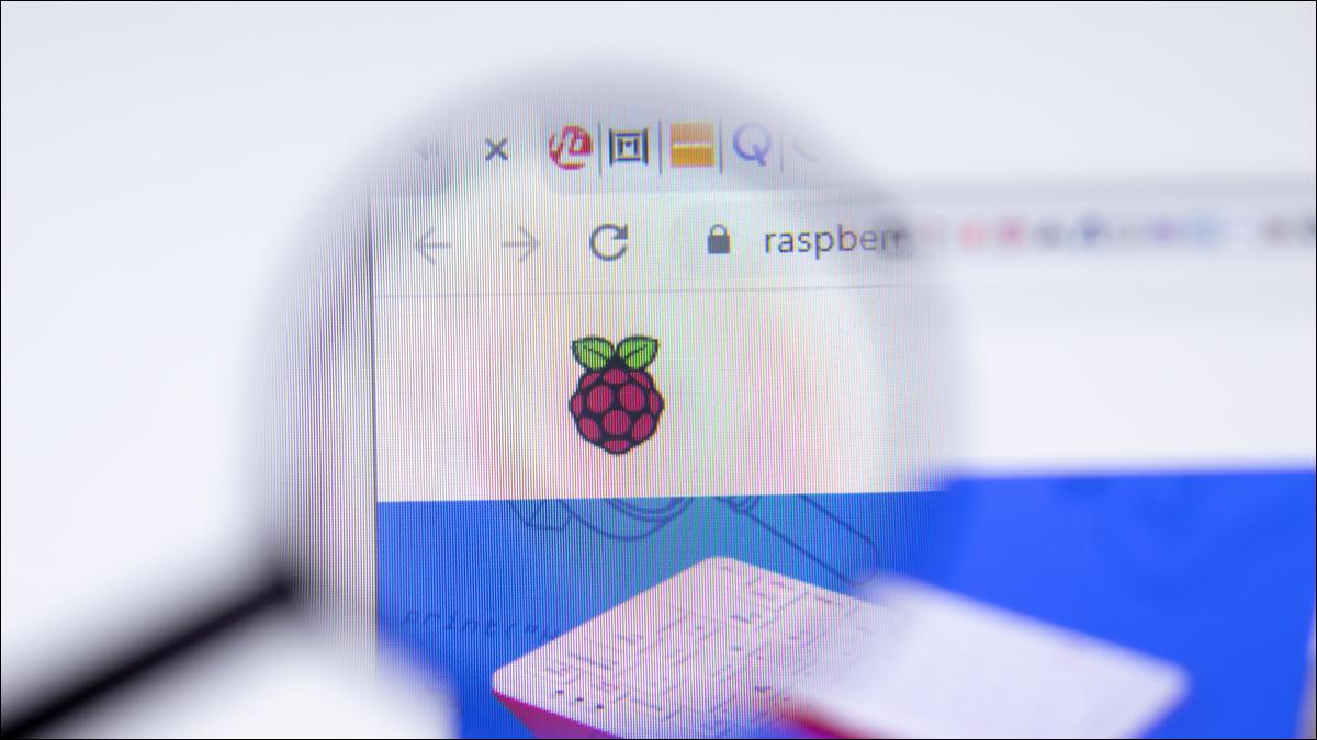 Página de inicio de Raspberry Pi