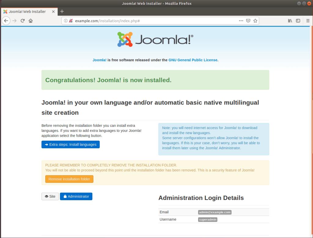 Instalación de Joomla en Ubuntu