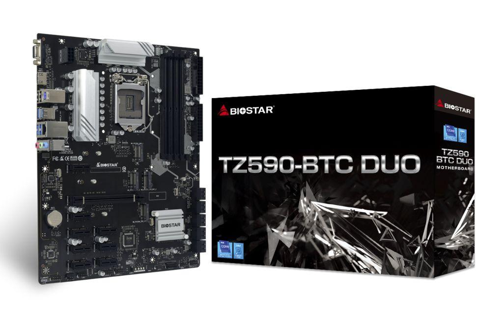 Biostar lanza la placa base TZ590-BTC Duo para la minería de criptomonedas
