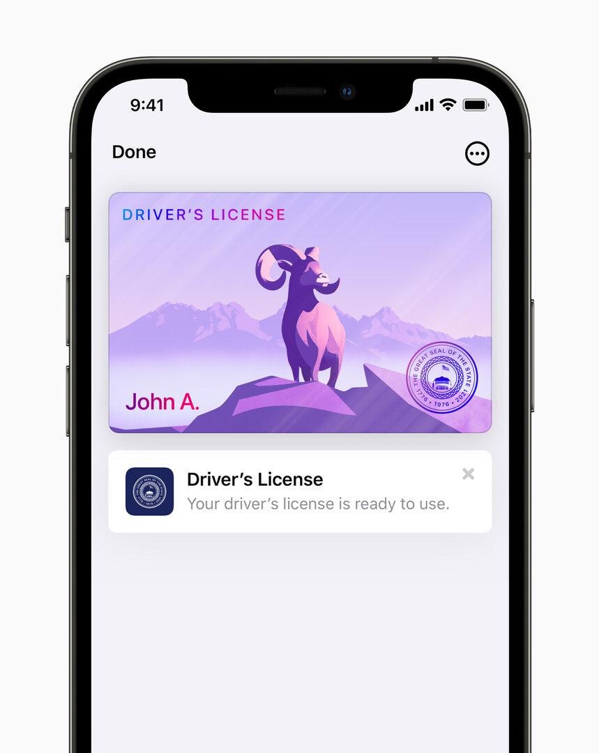 Licencia de conducir de Apple Wallet