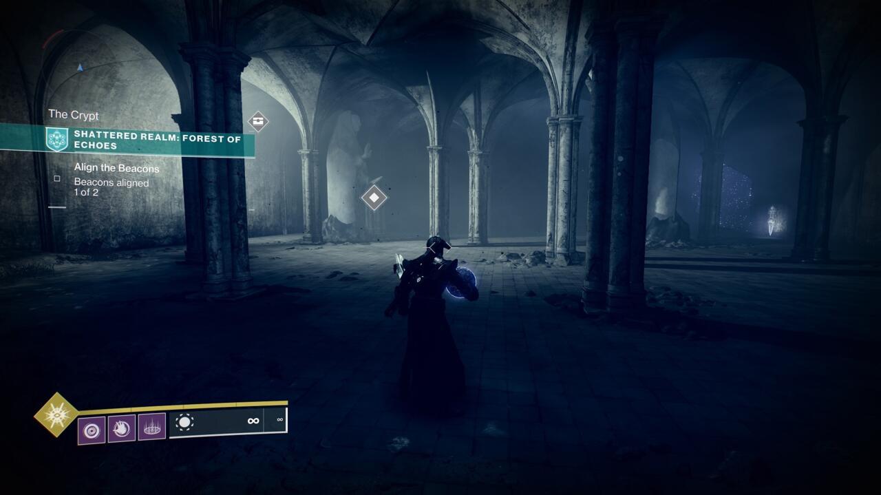 Lleva el orbe a la cripta escondida debajo del mausoleo, luego prepárate para una pelea con un jefe de los poseídos.
