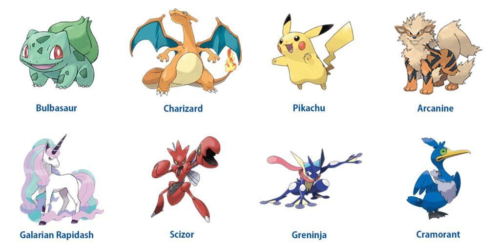 Concurso de ilustraciones Pokémon TCG 2022 Pokémon elegibles