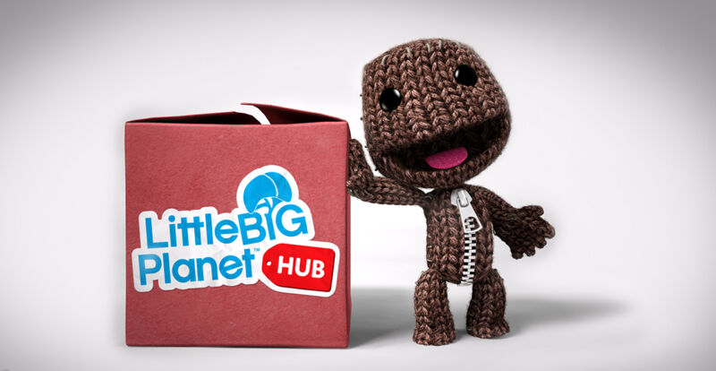 Linda imagen promocional para Little Big Planet.