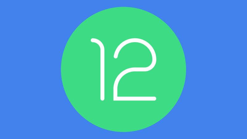 El logo de Android 12.