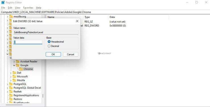 Navegación segura Google Chrome