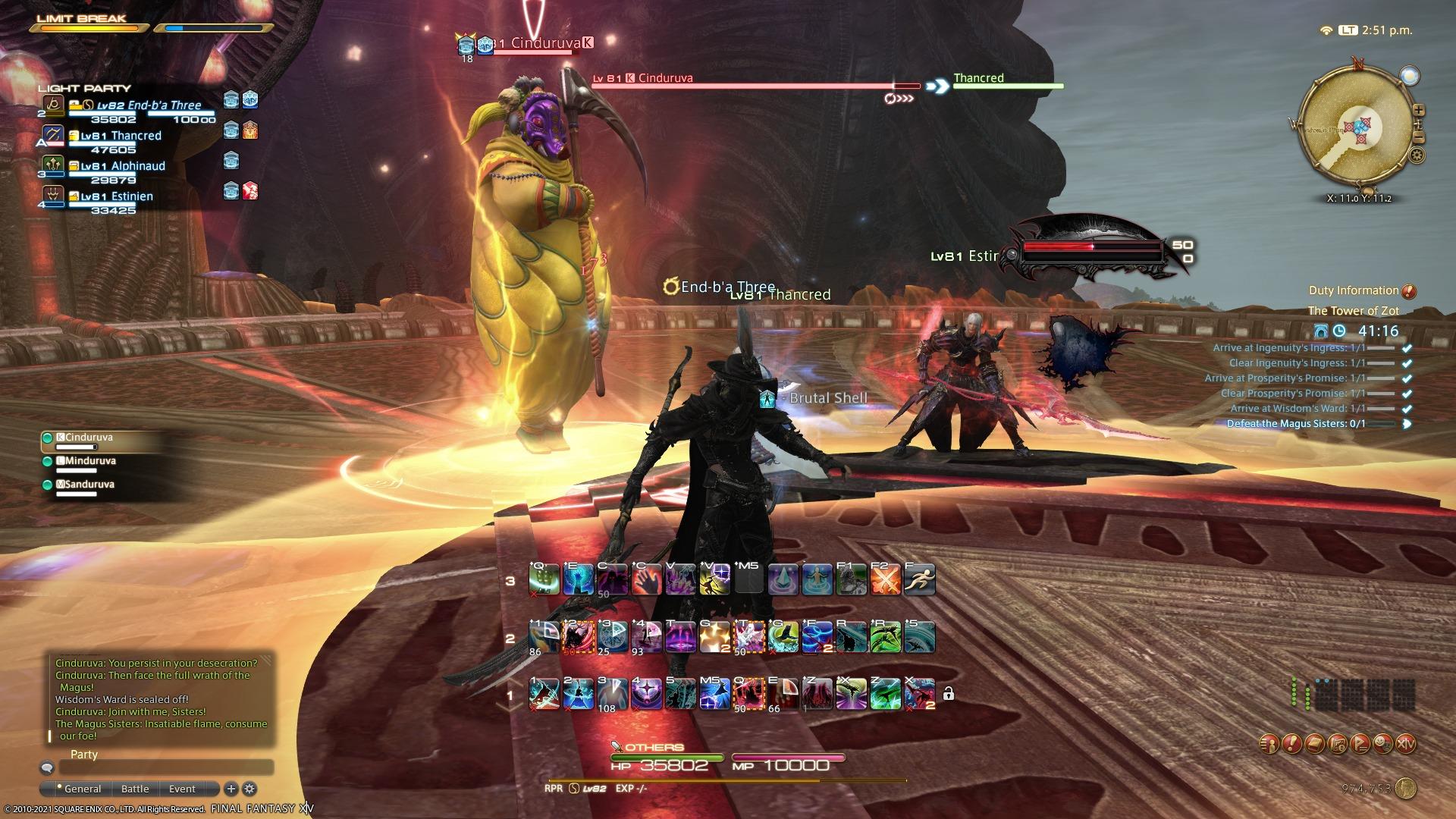 FFXIV Endwalker Reaper Tower of Zot Magus Sisters