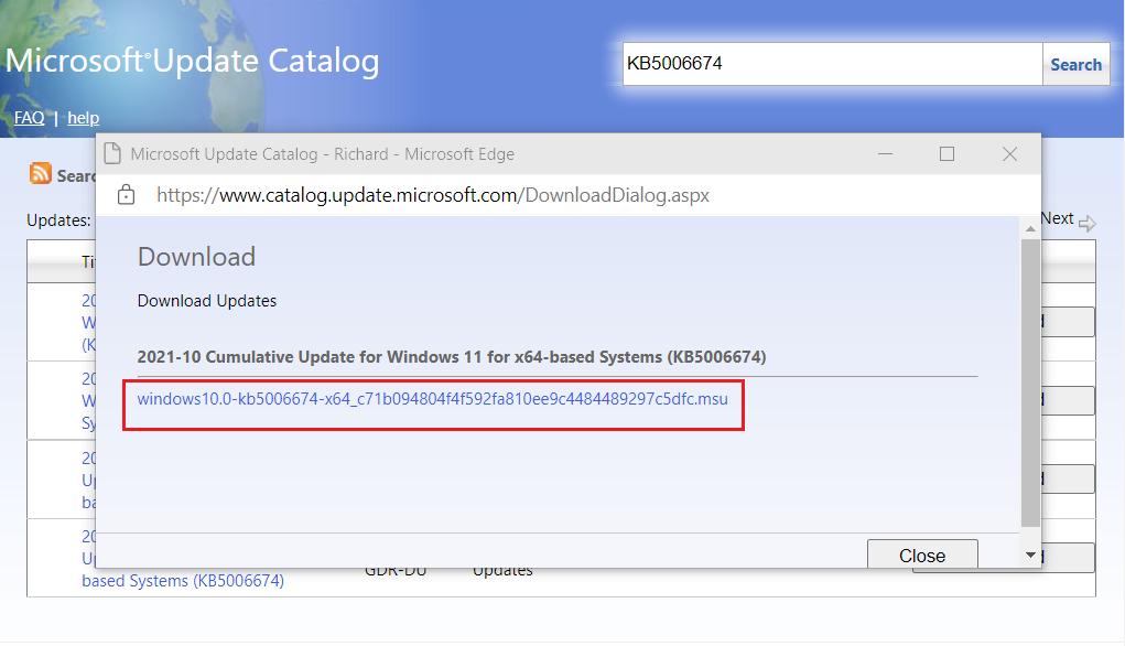 Windows 11 descargar manualmente las actualizaciones para la computadora