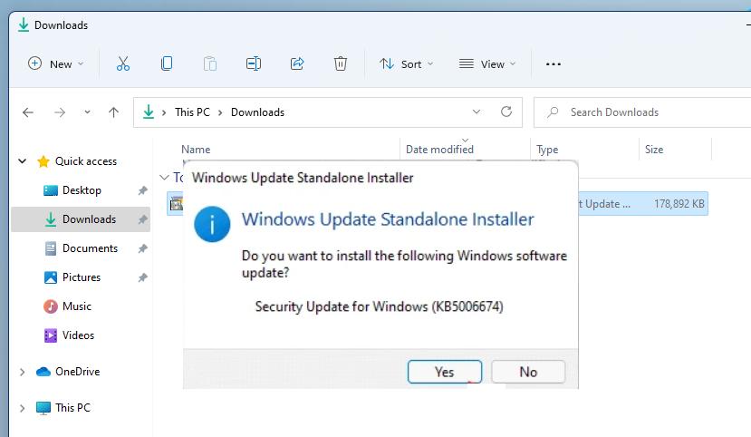 instalador independiente de Windows Update