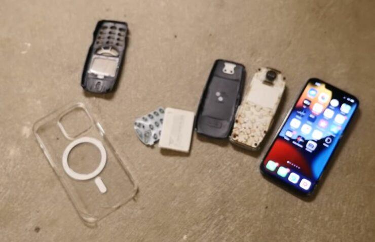 La prueba de caída del iPhone 13 Pro supera al Nokia 3310