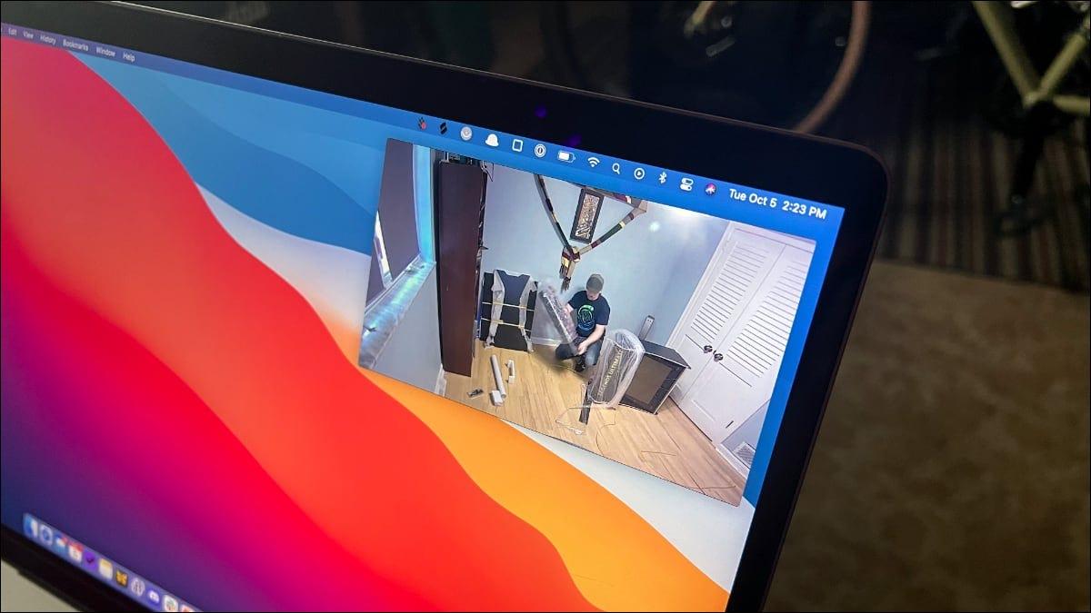 Imagen en imagen en una MacBook Pro