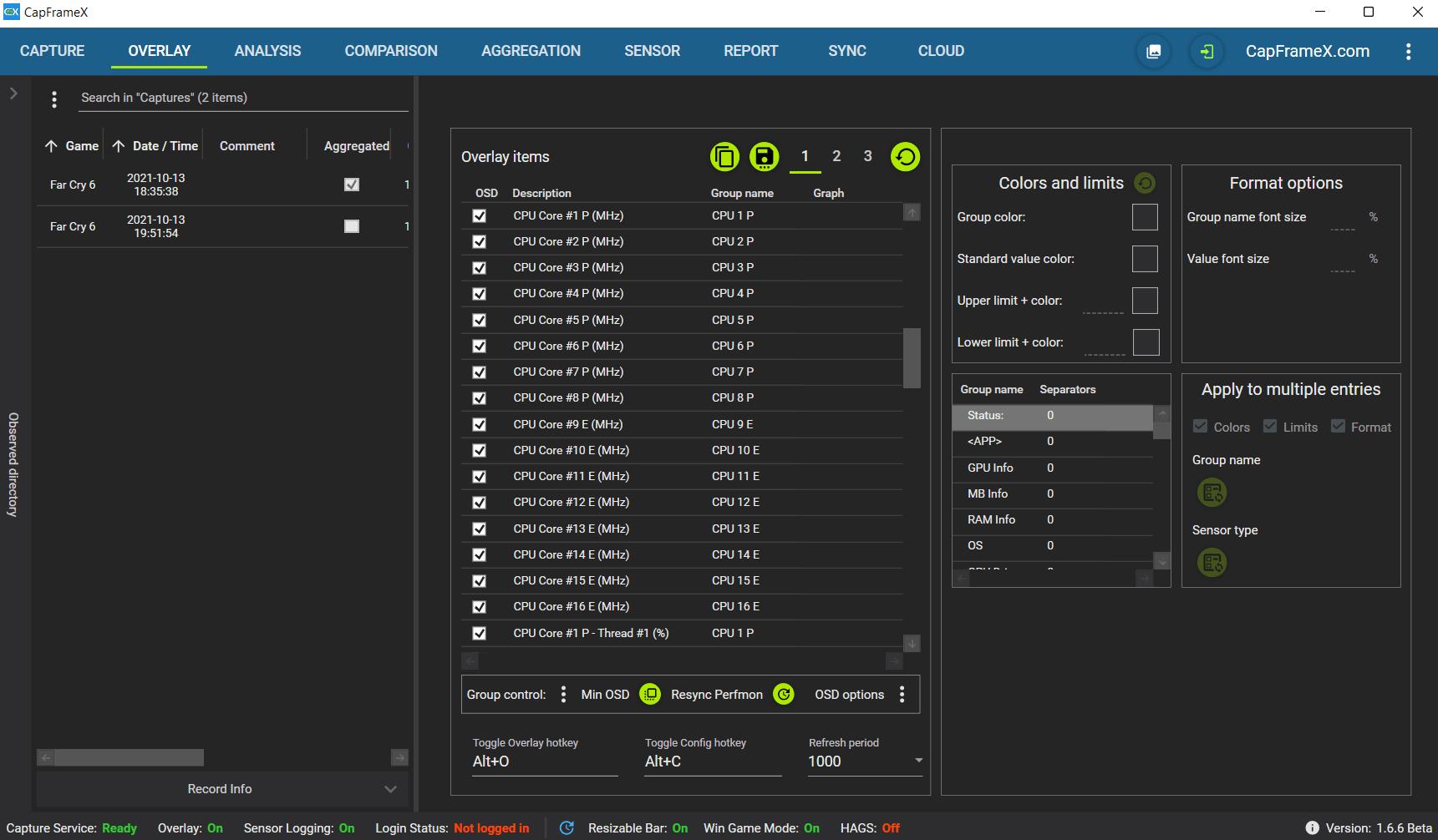 El Intel Core i9-12900K es reconocido correctamente por CapFrameX 1.6.6 Beta
