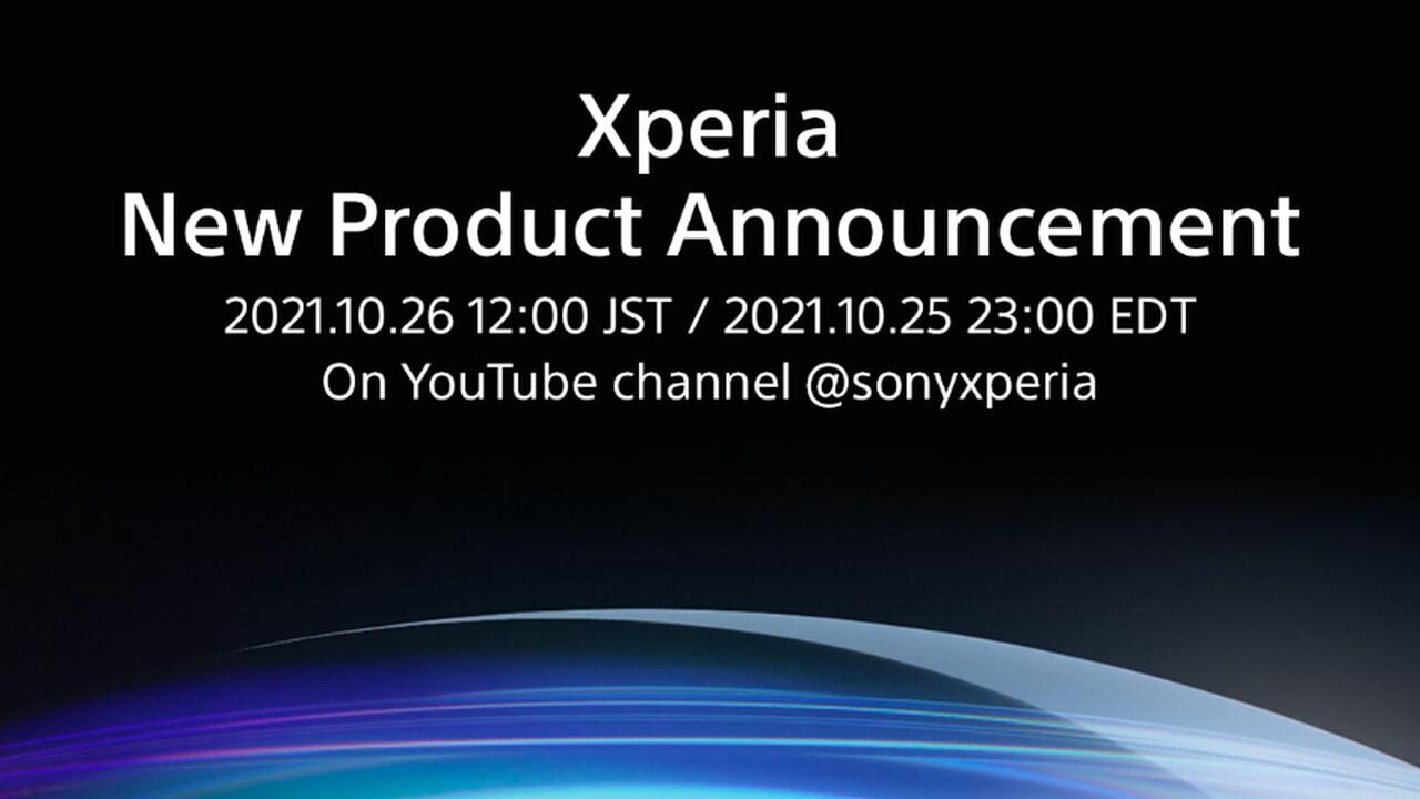 Lanzamiento de Xperia: nuevos productos de Sony el 26 de octubre